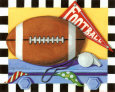 Football Art Print by Kathy Middlebrook