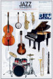 Jazz Instruments Plakat