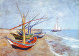 Fishing Boats on the Beach (van Gogh) Posters