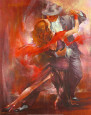 Argentinischer Tango II Kunstdruck von Pedro Alvarez