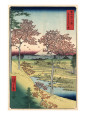 View of the Sunset at Meguro, Edo Art Print by Ando Hiroshige