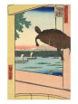 Mannen Bridge and the Fukagawa District Reprodukcja według Ando Hiroshige