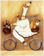 Chef To Go Art Print by Jennifer Garant