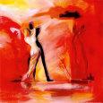 Romance in Red II Kunsttryk af Alfred Gockel