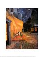 The Café Terrace on the Place du Forum, Arles, at Night, c.1888 Art Print by Vincent van Gogh