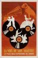 HMV, His Master's Voice (reklamní plakát ve francouzštině) Plakát