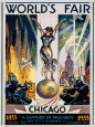 Chicago World's Fair, 1933 Art Print by Glen C. Sheffer