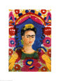 Le Cadre, ou portrait de l'artiste, 1937-1938 Reproduction d'art par Frida Kahlo