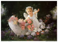Baby Angel Art Print by Joyce Birkenstock