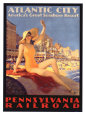 Pennsylvania Railroad, Atlantic City Giclee Print by Edward M. Eggleston