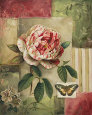 Rose and Butterfly Art Print by Lisa Audit