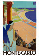 Monaco Travel Ads (Vintage Art) Posters