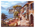 Overlook Cafe II Art Print by Sung Kim