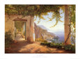 View to the Amalfi Coast Art Print by Carl Frederic Aagaard