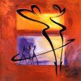 Rhumba in Red I Kunsttryk af Alfred Gockel