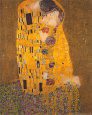 De kus, ca.1907 Kunstdruk van Gustav Klimt
