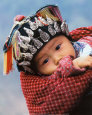 Miao Baby Wearing Traditional Hat Art Print by Keren Su
