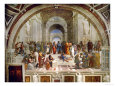 School of Athens, circa 1510-1512, One of the Murals Raphael Painted for Pope Julius II reproduction procd gicle par Raphael