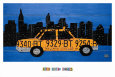 New York Taxi Cab Reproduction d'art par Aaron Foster