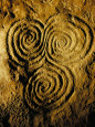 Carvings on Stone, New Grange (Newgrange) Site, County Meath, Leinster, Eire (Ireland) Photographic Print by Bruno Barbier