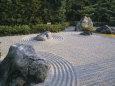 Raked Stone Garden, Taizo-In Temple, Kyoto, Japan Fotografisk tryk af Michael Jenner