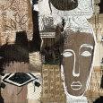 Abstrakt collage (dekorativ kunst) Posters