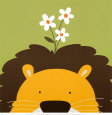 Peek-a-Boo IX, Lion Art Print by Yuko Lau
