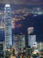 Hong Kong Harbour and Kowloon at Dusk Photographic Print by Greg Elms