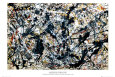 Silver On Black Poster by Jackson Pollock