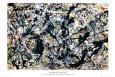 Sølv på sort Plakat af Jackson Pollock