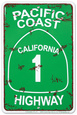Pacific Coast Highway Plåtskylt