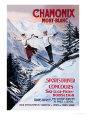 Chamonix Mont-Blanc Premium Poster af Francisco Tamagno