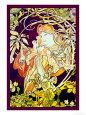 Efeu Kunsttryk af Alphonse Mucha