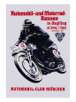 Automobile and Motorcycle Race, Munich Premium Poster