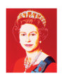 Reigning Queens: Queen Elizabeth II of the United Kingdom, c.1985 (Light Outline) Reproduction d'art par Andy Warhol