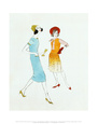 Two Female Fashion Figure, c.1960 Art Print by Andy Warhol