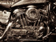 Motorcycles (B&W Photography) Posters