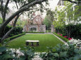 Garden in Residential Home, Charleston, SC Fotografisk tryk