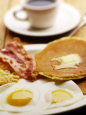American Breakfast of Pancakes, Eggs, and Bacon Fotografie-Druck von Jim McGuire
