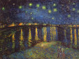 Starry Night Over the Rhone, noin 1888 Taidevedos tekijänä Vincent van Gogh