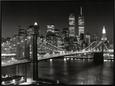 Puente de Brooklyn, Nueva York Reproducción en lienzo enmarcado por Henri Silberman