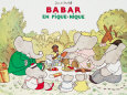 Babar en Pique-Nique Reproduction d'art