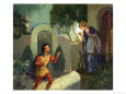 Unidentified Balcony Scene, Possibly Romeo and Juliet Giclee Print by Van Der Syde