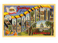 Greetings from Sacramento, California Giclee Print