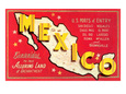 Map of Mexico Giclée-Druck