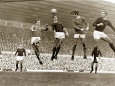 Manchester United vs. Arsenal, Football Match at Old Trafford, October 1967 Photographic Print