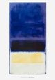 Untitled (Blue, Dark Blue, Yellow) Lmina por Mark Rothko