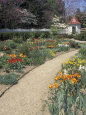 Spring Flower Garden at Mount Vernon, George Washington's Home in Virginia Fotografie-Druck