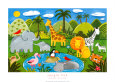 Jungle Fun Art Print by Sophie Harding