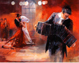 Bandoneon Reproduction d'art par Willem Haenraets